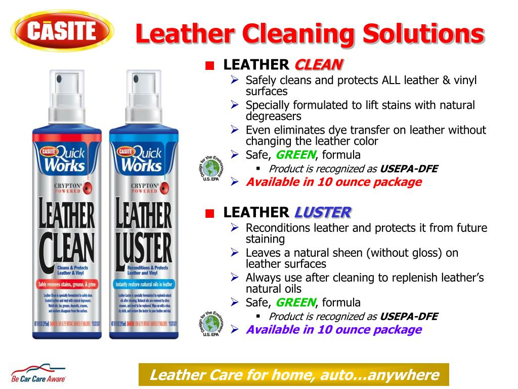 Leather Cleaning Solutions