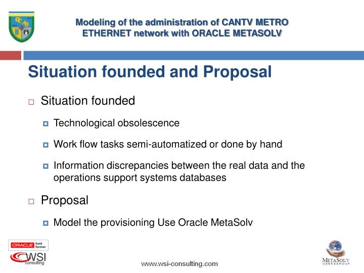 Situation founded and Proposal