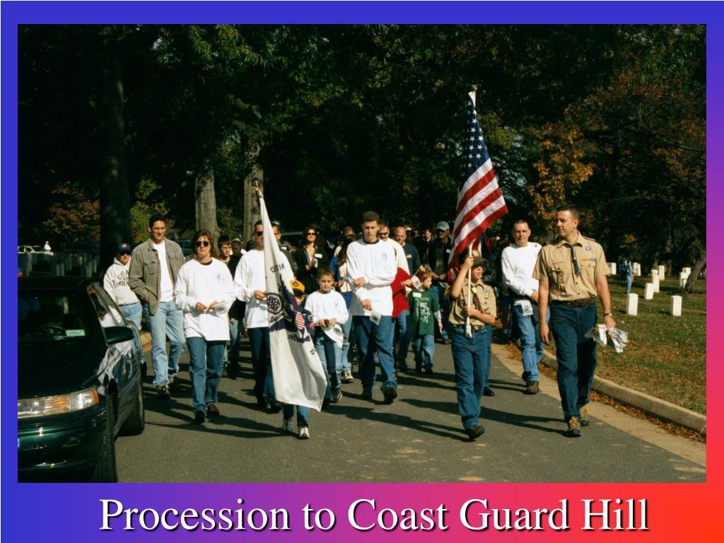 Procession to Coast Guard Hill