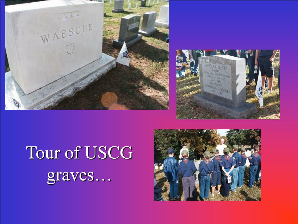 Tour of USCG graves…
