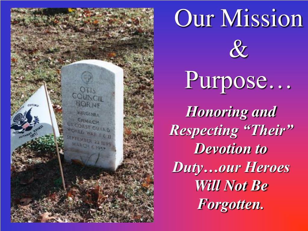 Our Mission & Purpose…