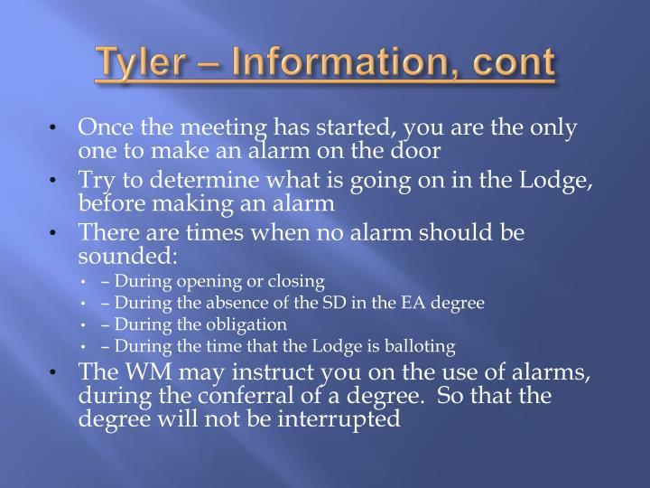 Tyler – Information,