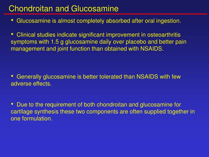Chondroitan and Glucosamine