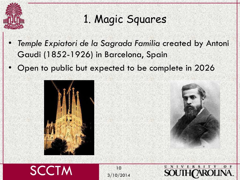 1. Magic Squares