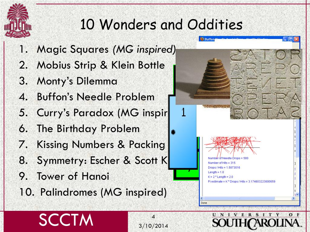 10 Wonders and Oddities