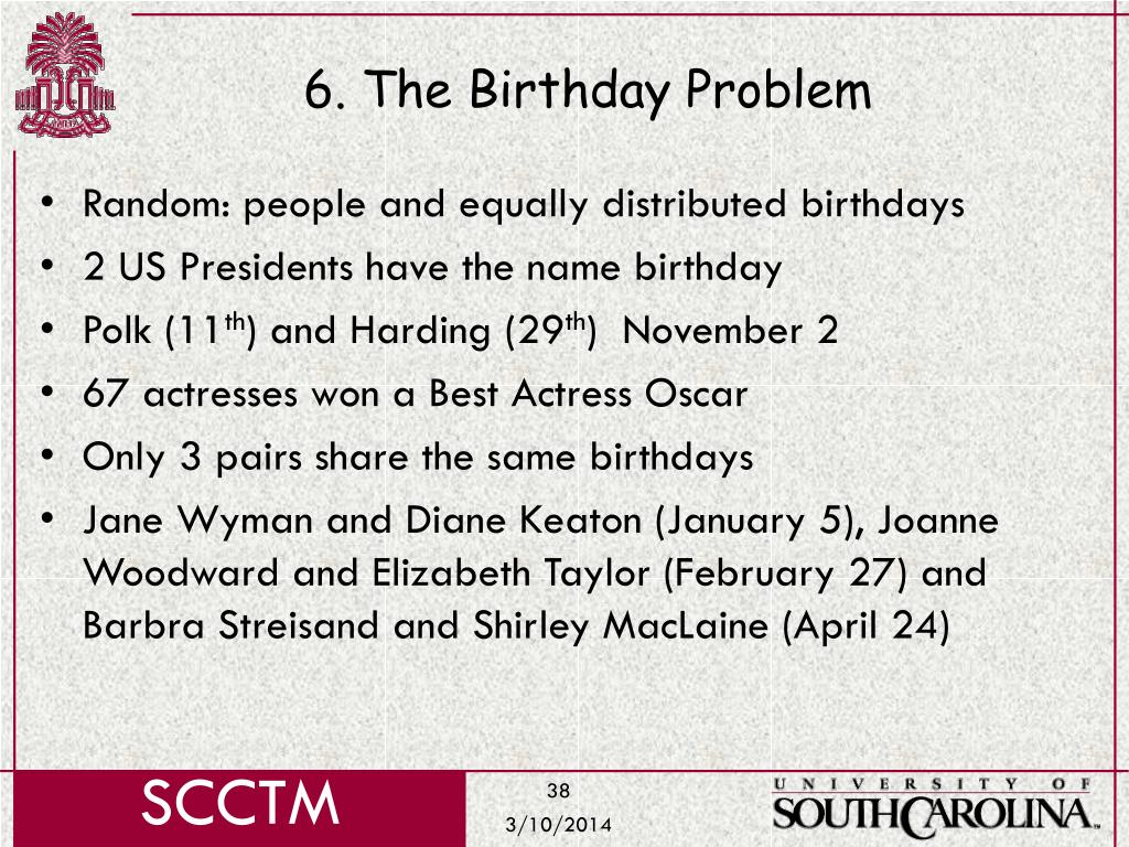 6. The Birthday Problem