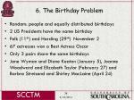 6 the birthday problem38