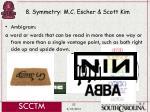 8 symmetry m c escher scott kim52