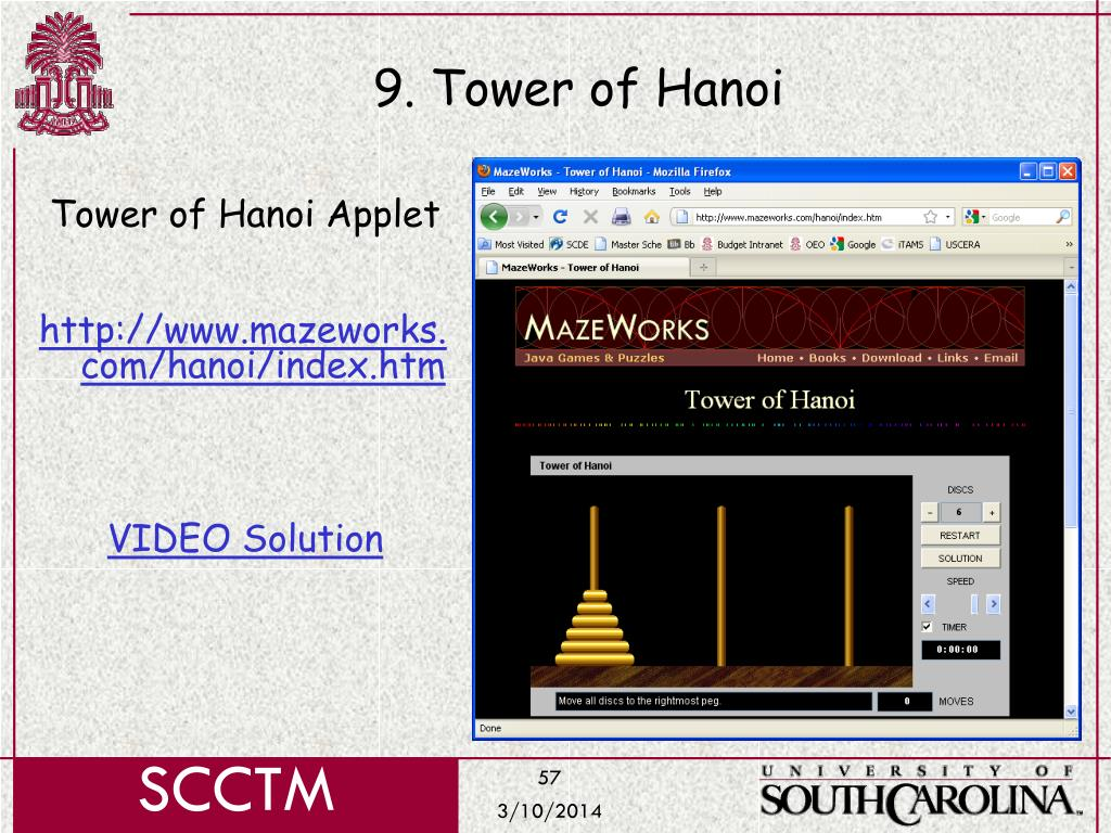 9. Tower of Hanoi