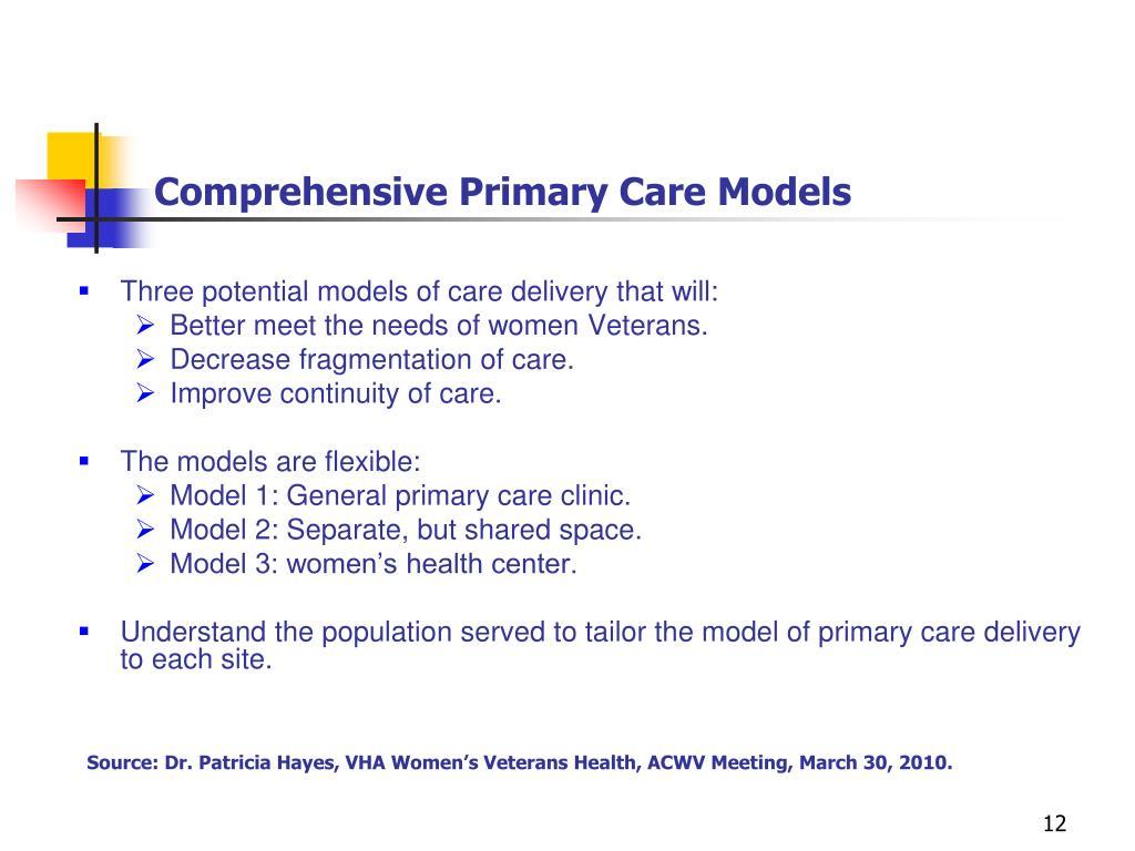 Comprehensive Primary Care Models