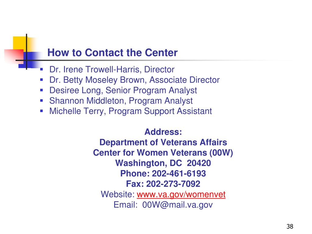 How to Contact the Center