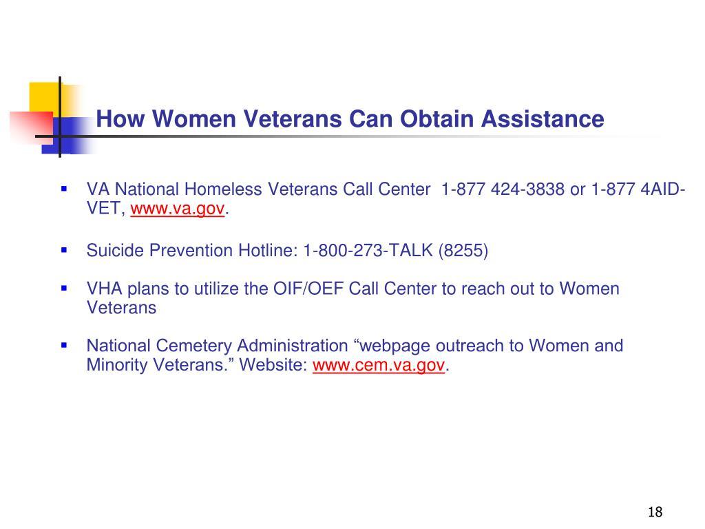How Women Veterans Can Obtain Assistance