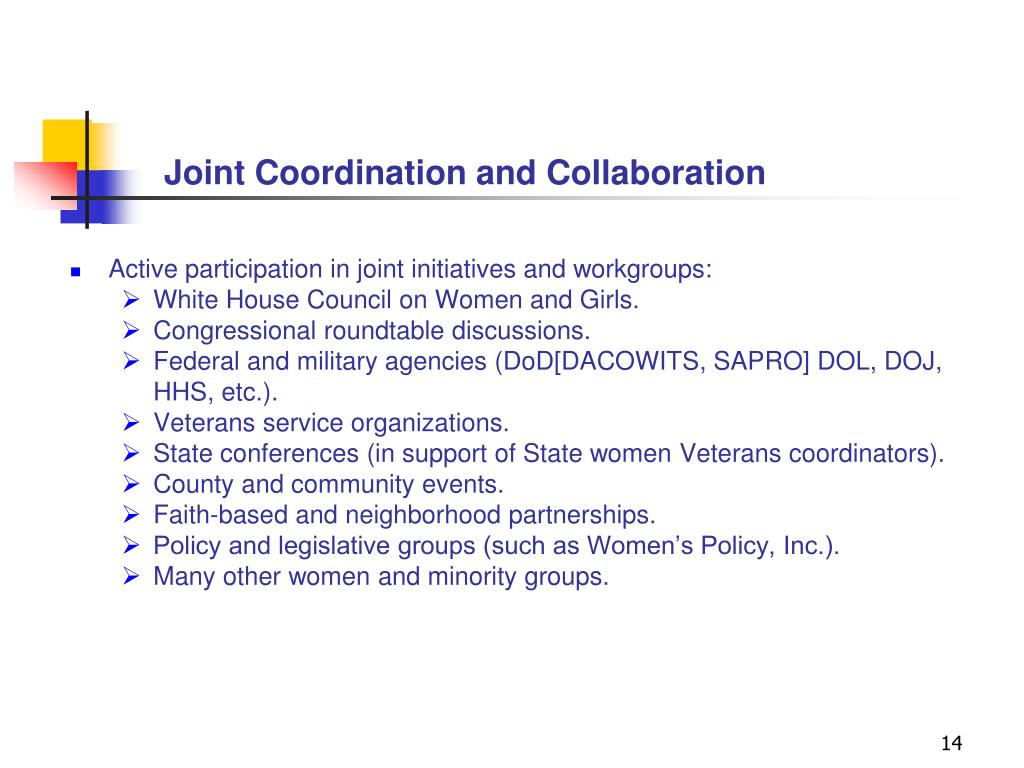 Joint Coordination and Collaboration
