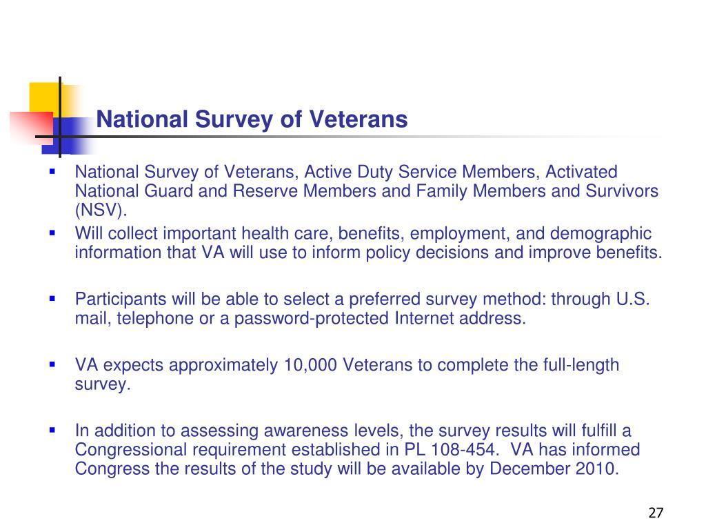 National Survey of Veterans