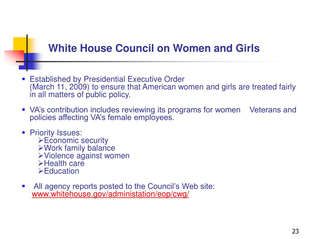 White House Council on Women and Girls