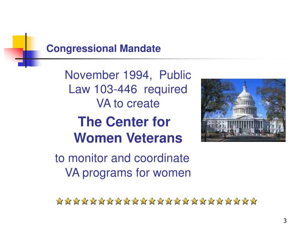 Congressional Mandate