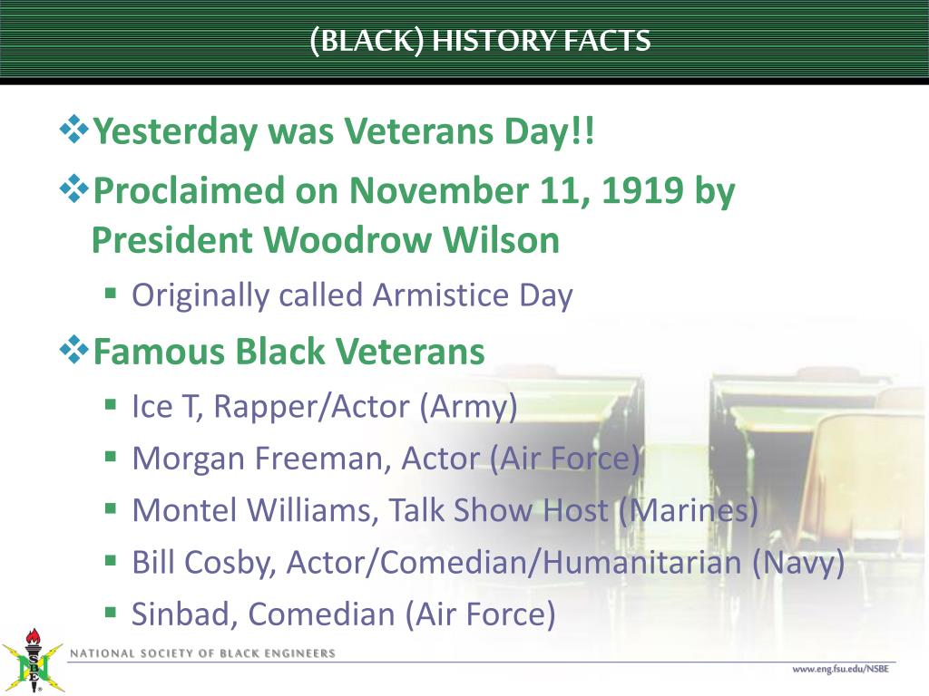 (BLACK) HISTORY FACTS