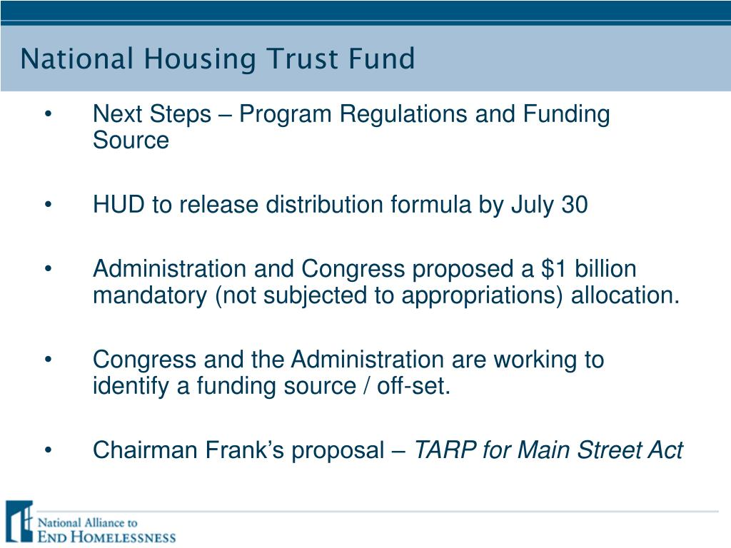 Next Steps – Program Regulations and Funding Source