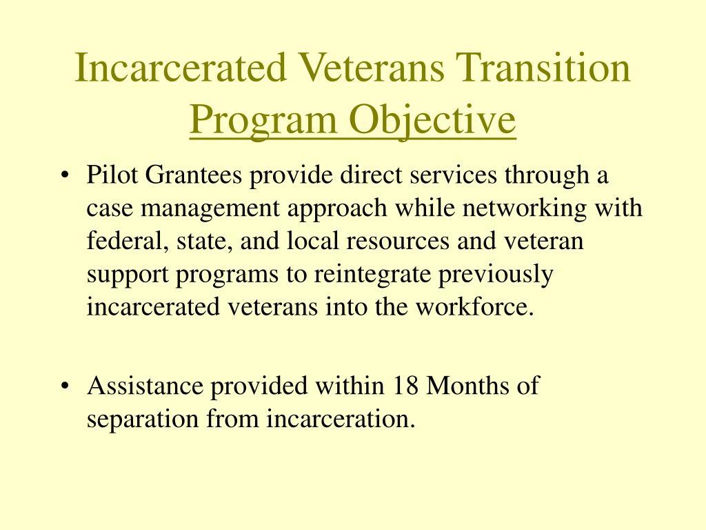 Incarcerated Veterans Transition