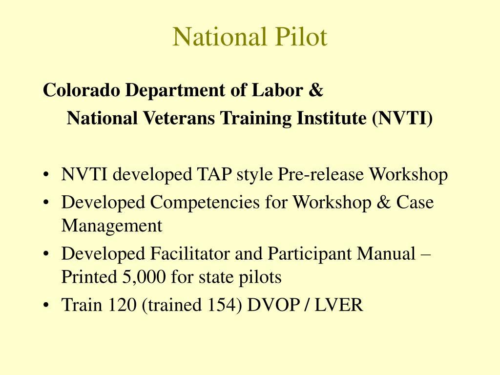 National Pilot