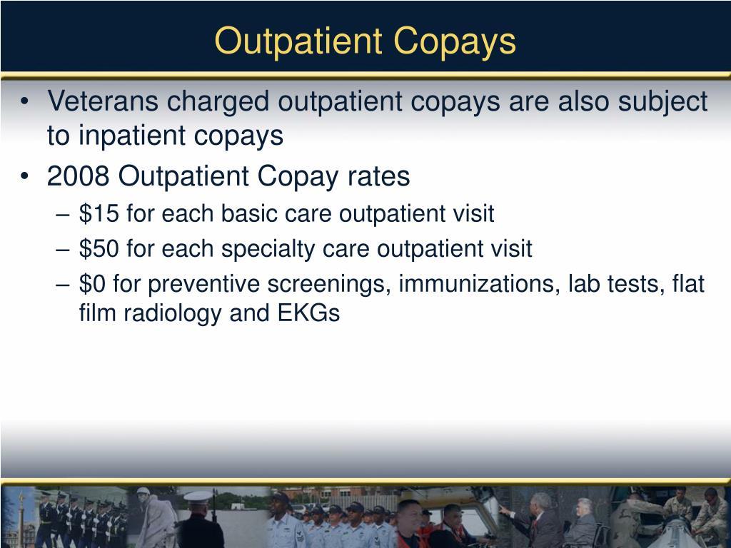 Outpatient Copays