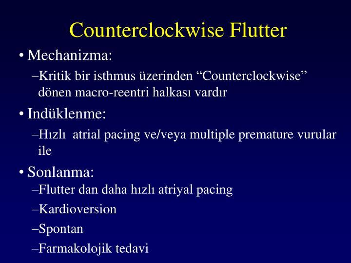 Counterclockwise Flutter