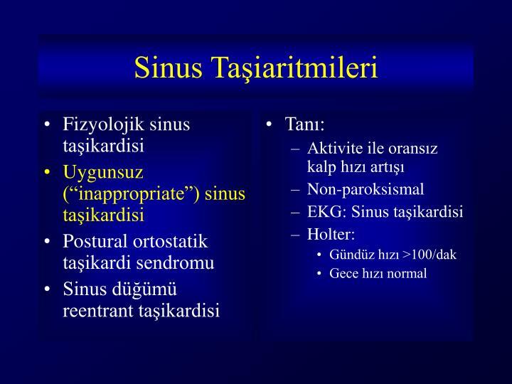 Fizyolojik sinus taşikardisi