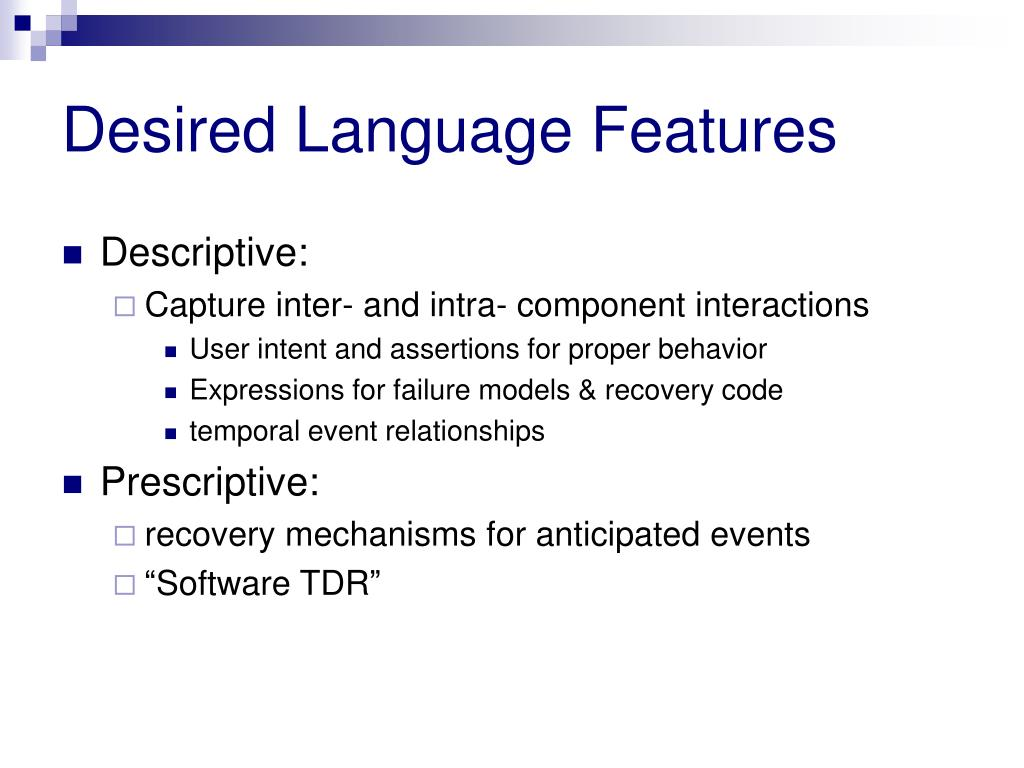 Desired Language Features