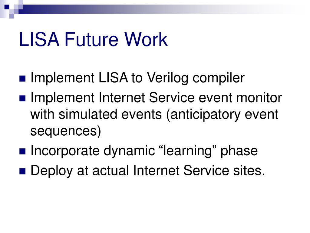 LISA Future Work