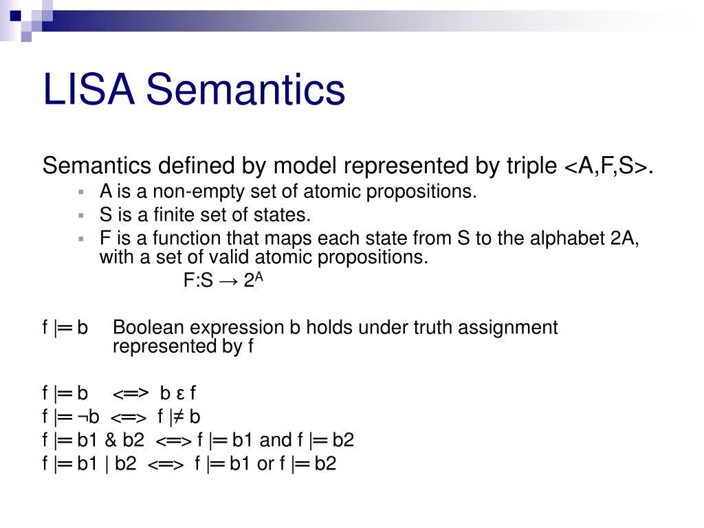 LISA Semantics