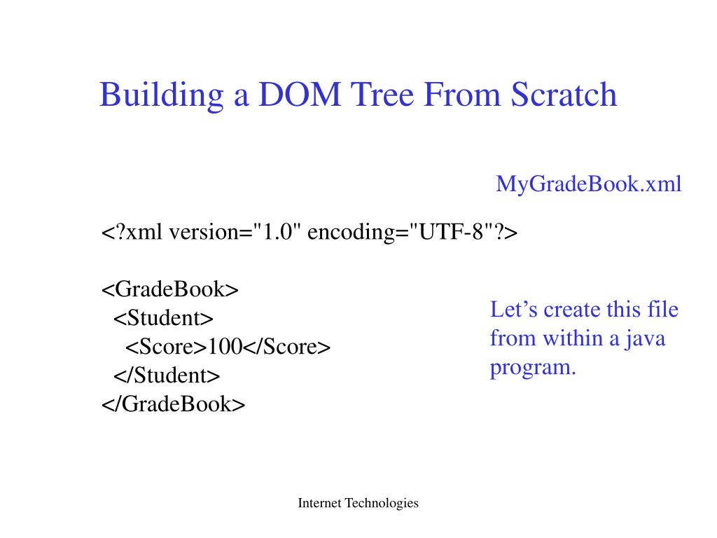 Building a DOM Tree From Scratch