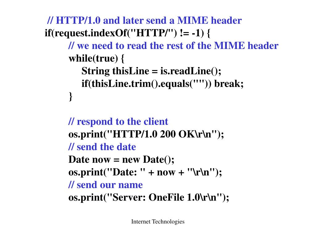// HTTP/1.0 and later send a MIME header
