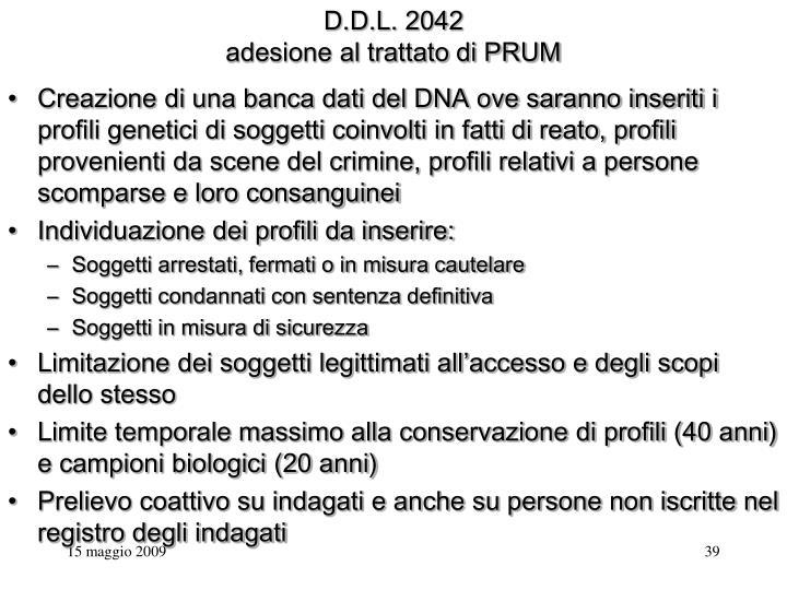 D.D.L. 2042