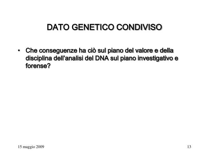 DATO GENETICO CONDIVISO