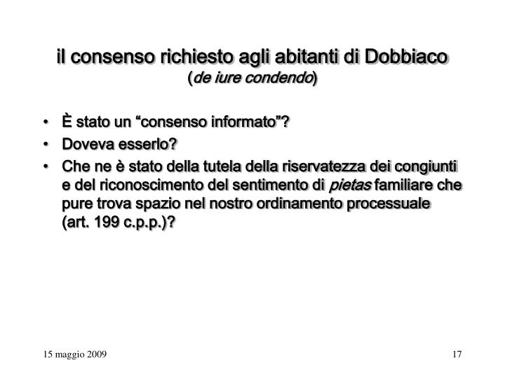 il consenso richiesto agli abitanti di Dobbiaco