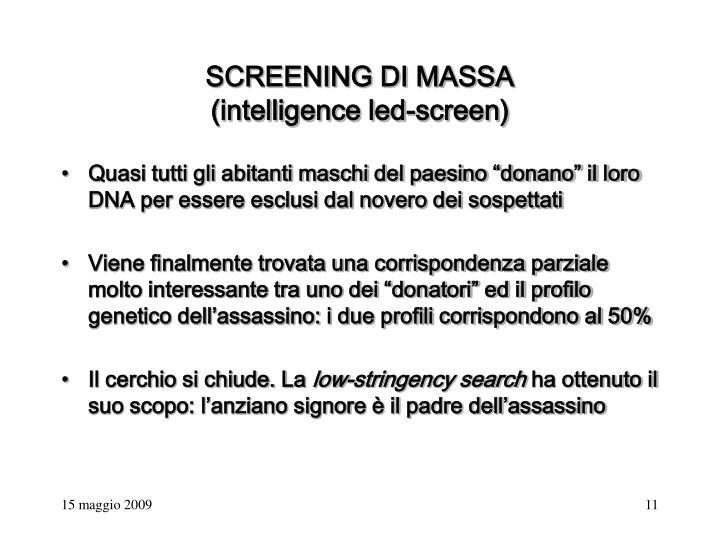 SCREENING DI MASSA