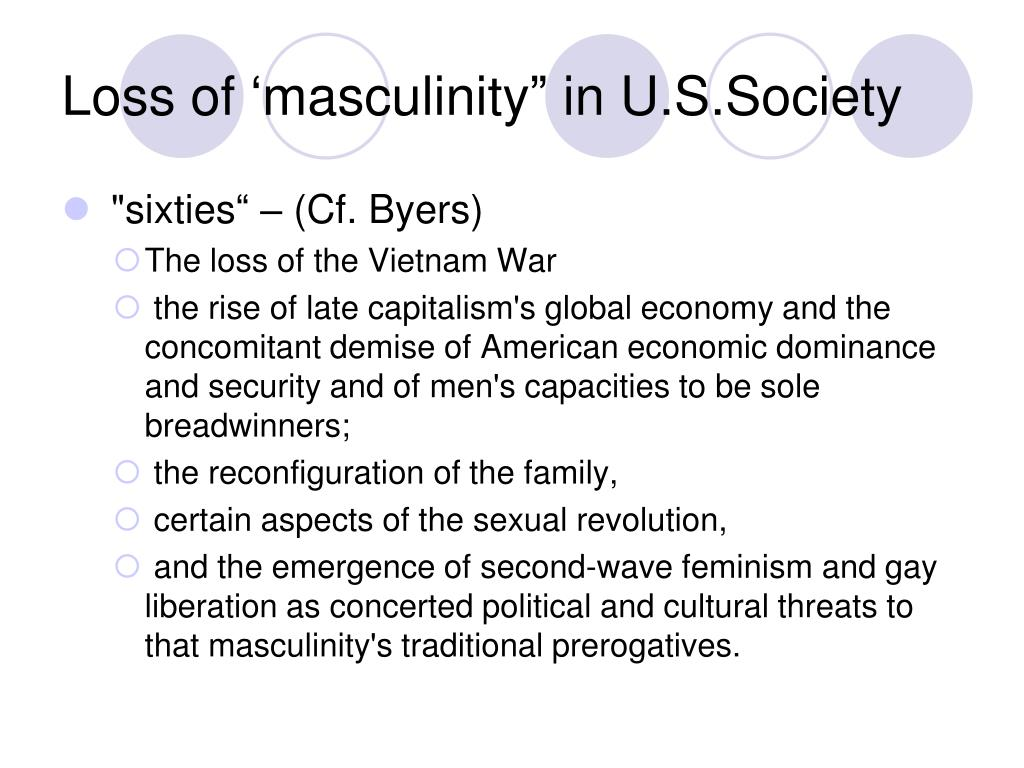"Loss of 'masculinity"" in U.S.Society"