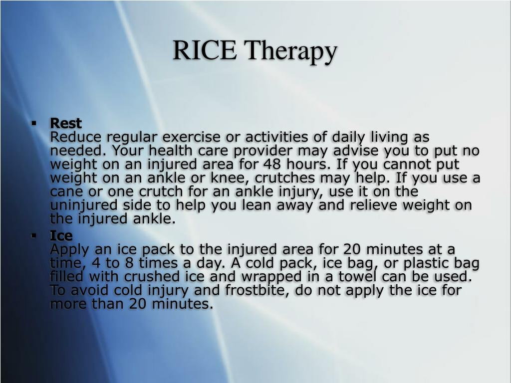 RICE Therapy