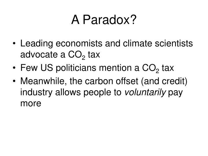 A Paradox?