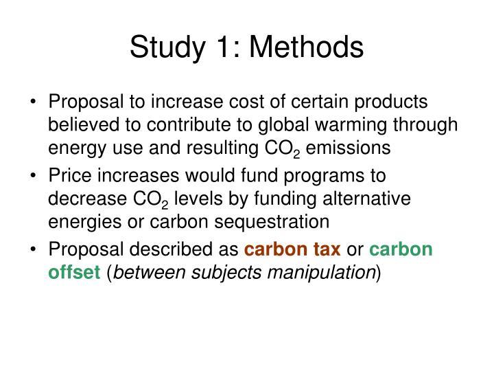 Study 1: Methods