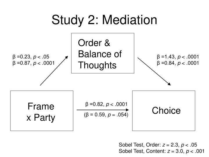 Study 2: Mediation
