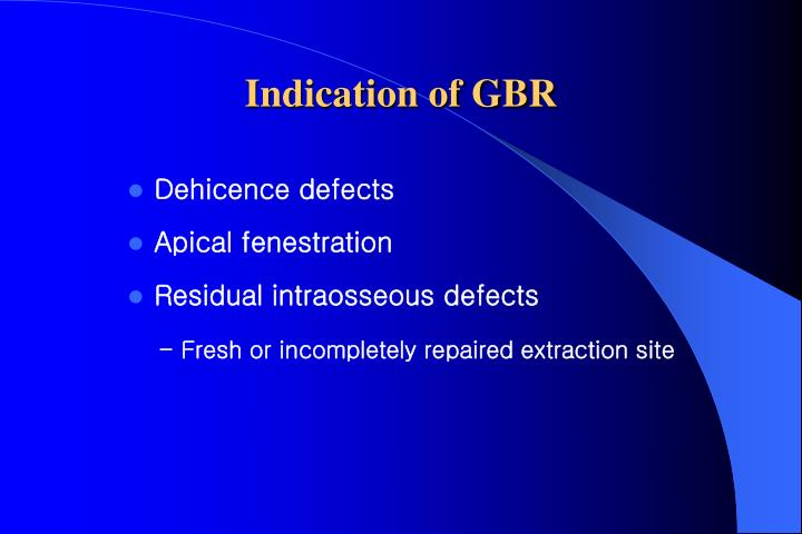 Indication of GBR