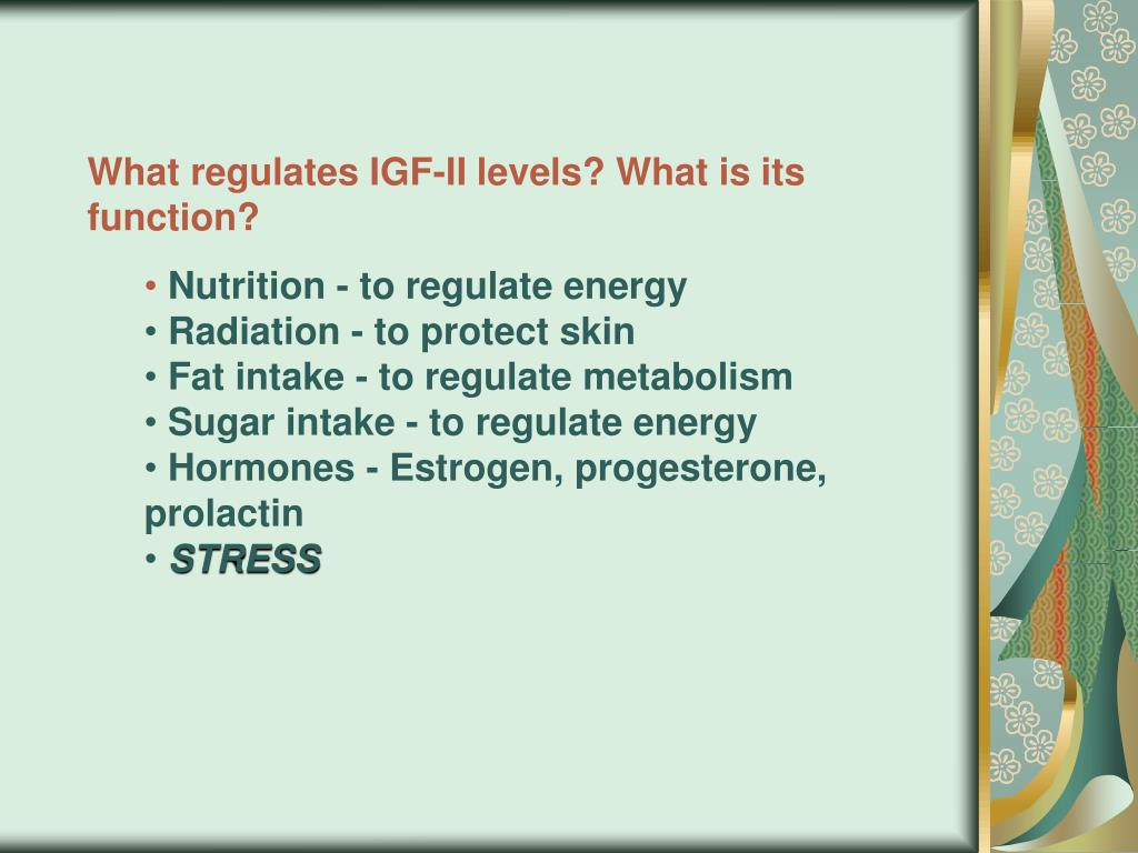 What regulates IGF-II levels? What is its function?
