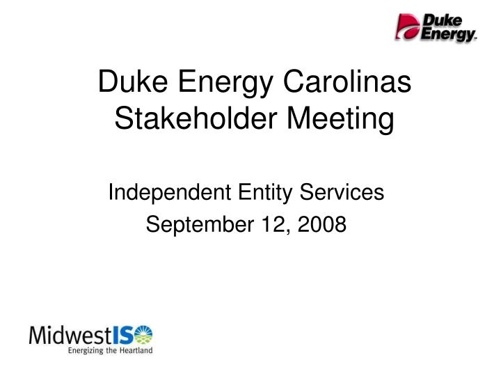 Duke energy carolinas stakeholder meeting