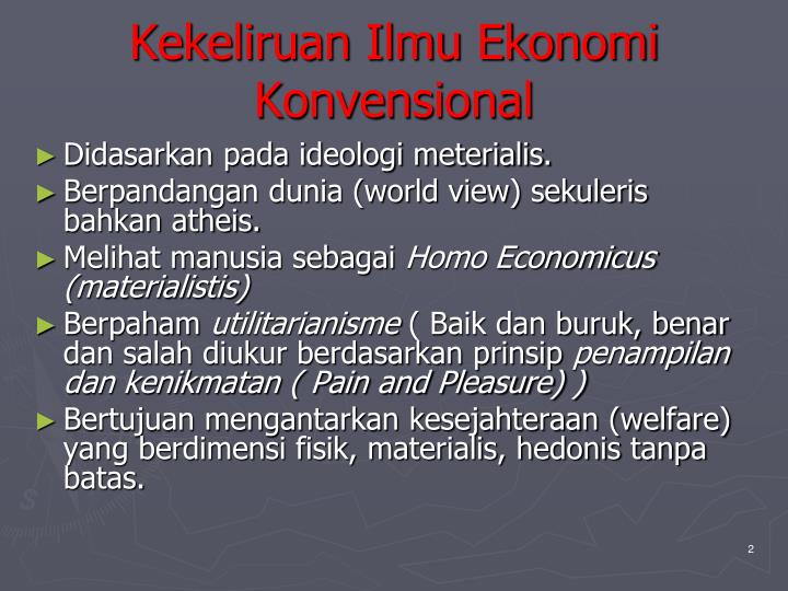 Kekeliruan Ilmu Ekonomi Konvensional