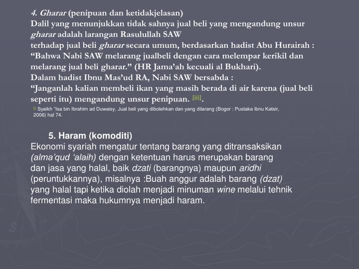 4. Gharar