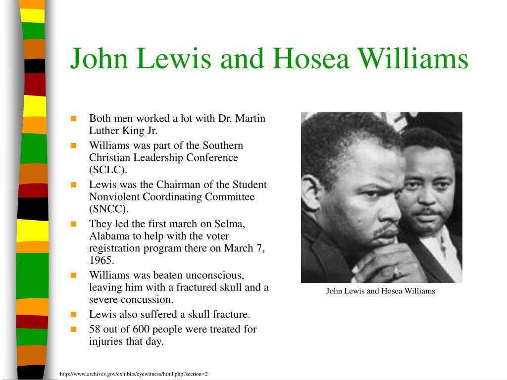 John Lewis and Hosea Williams