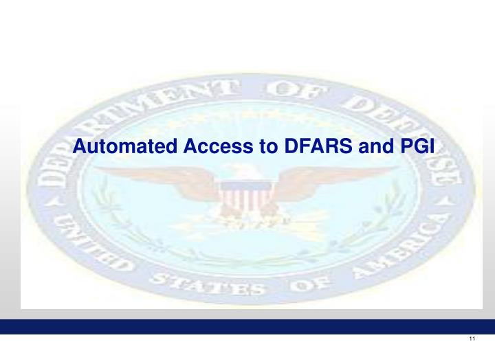 Automated Access to DFARS and PGI