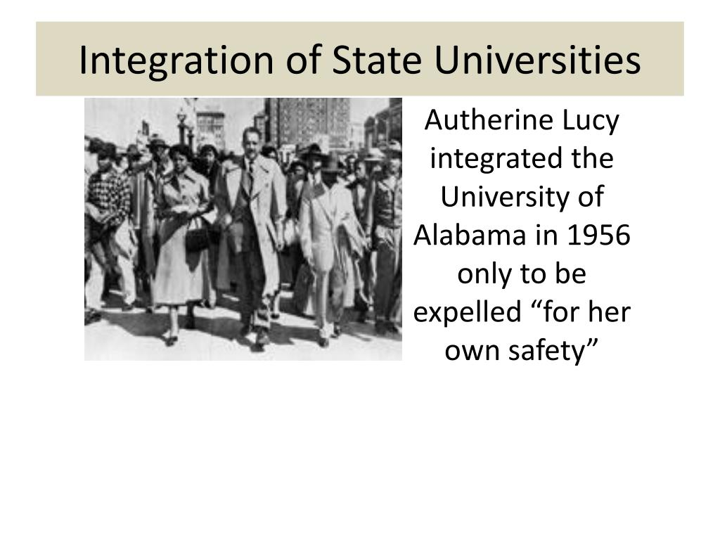 Integration of State Universities