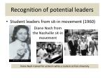 recognition of potential leaders